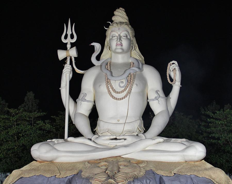 Big Photograph - Shiva Statue At Kachnar City by Sandeep Gangadharan