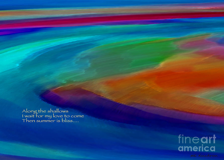 Abstract Digital Art - Shoal Haiku by ME Kozdron