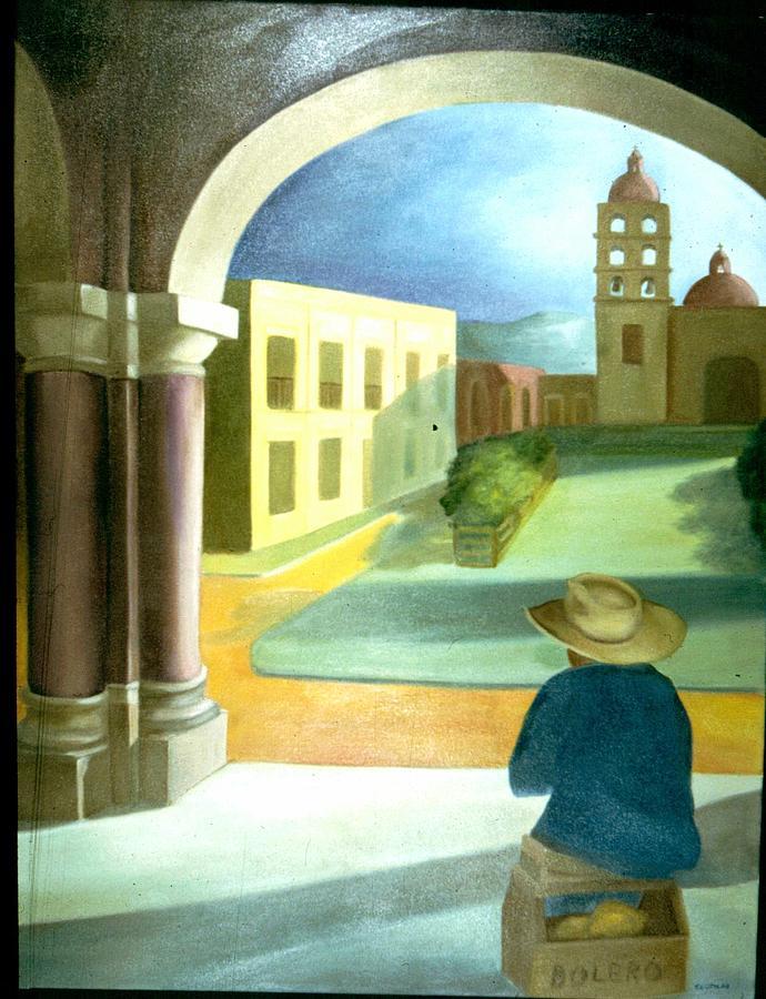 Shoe Shine Boy Painting by Clotilde Espinosa