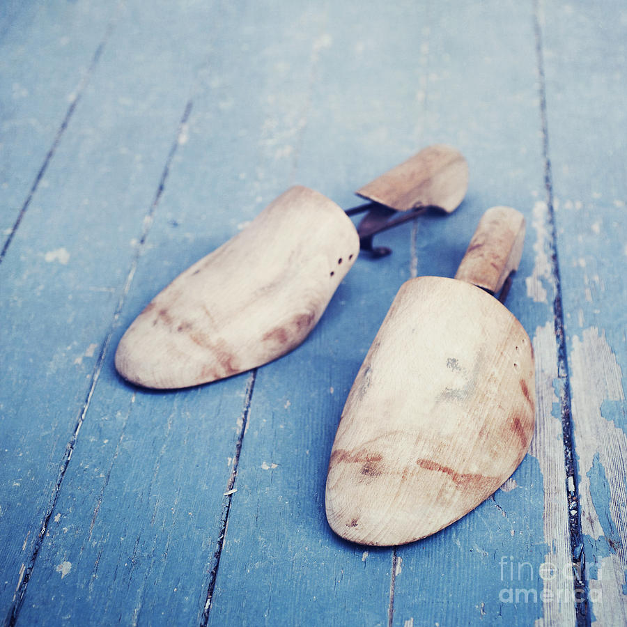 Blue Photograph - shoe trees II by Priska Wettstein
