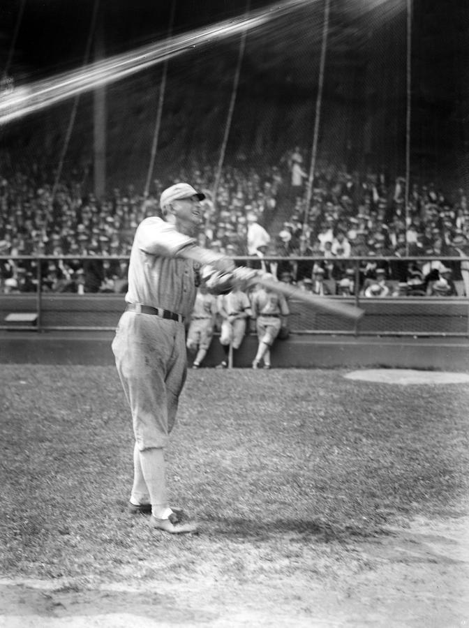 1920s Photograph - Shoeless Joe Jackson, Batting Practice by Everett