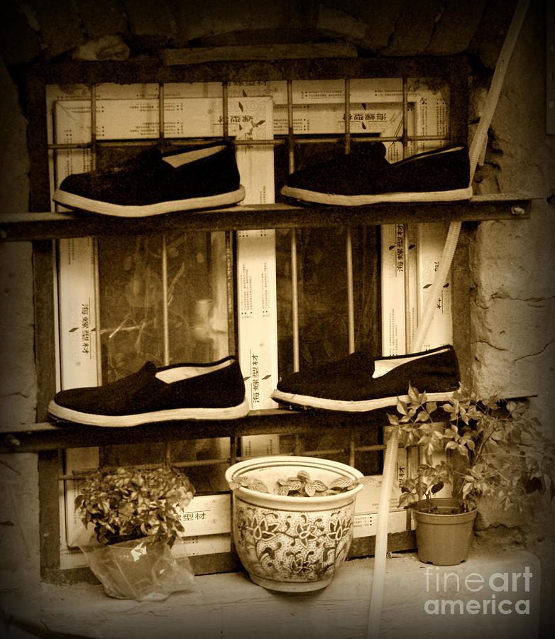 China Photograph - Shoes by James Yang