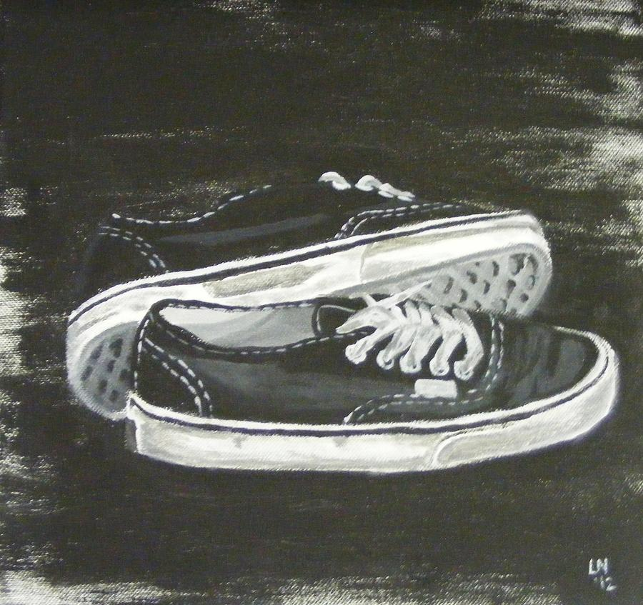 Shoes Painting - Shoes by Laura Evans
