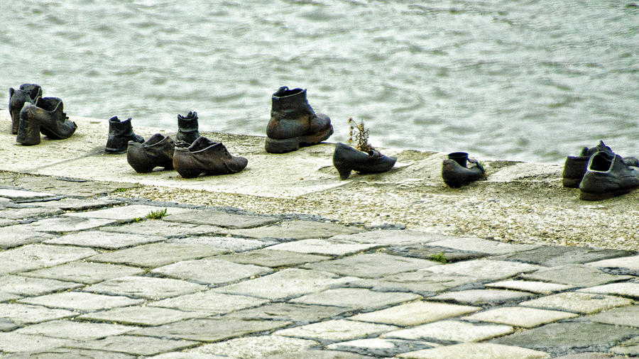 Shoes On The Danube Bank Photograph - Shoes On The Danube Bank - Budapest by Jon Berghoff