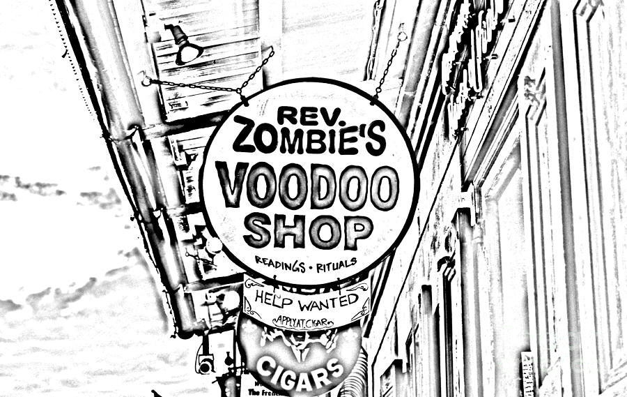 Travelpixpro New Orleans Digital Art - Shop Signs French Quarter New Orleans Photocopy Digital Art by Shawn OBrien