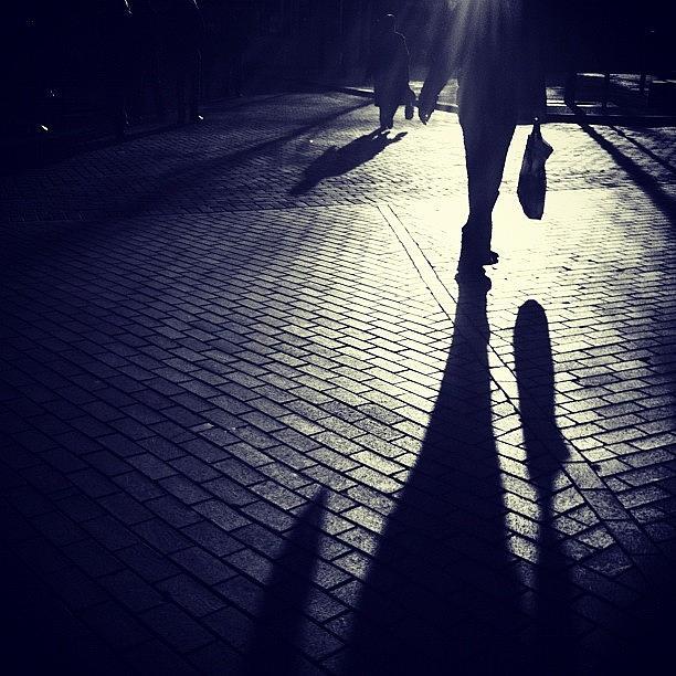 Shadows Photograph - Shopping. For Shadows... #shopping by Robbert Ter Weijden