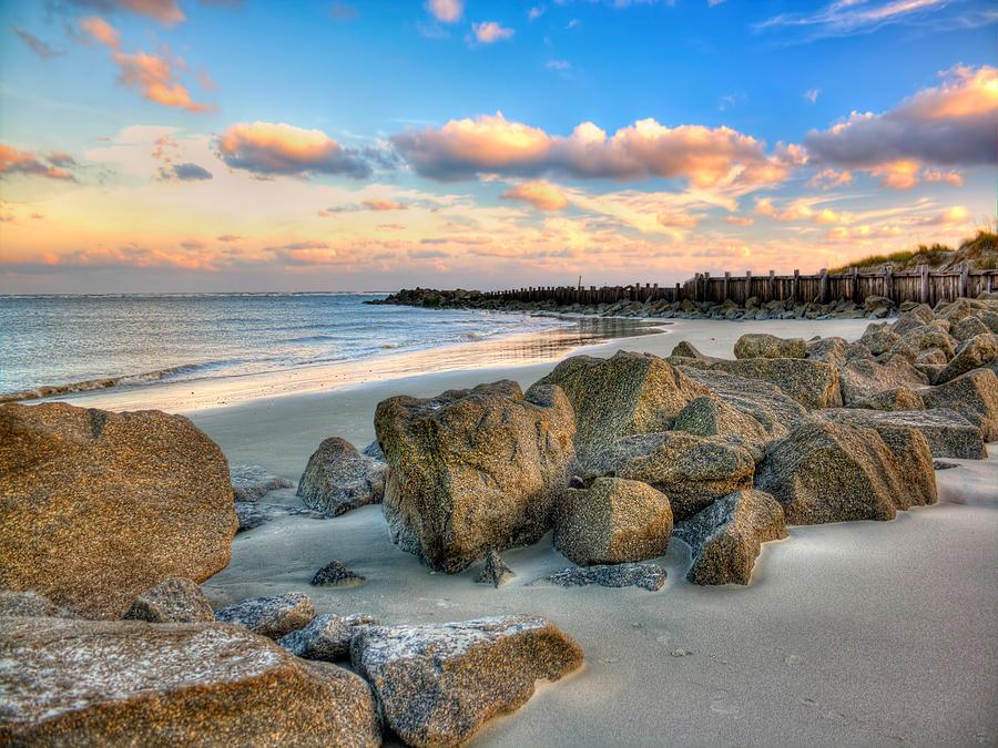 Shoreline Folly Beach Photograph by Jenny Ellen Photography