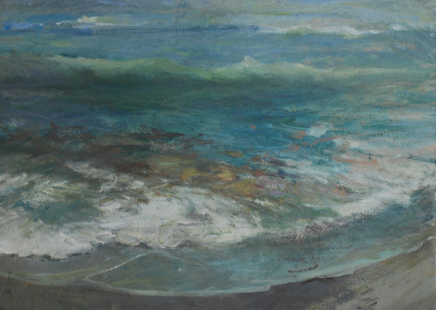 Seascape Painting - Shoreline by Marilyn Muller