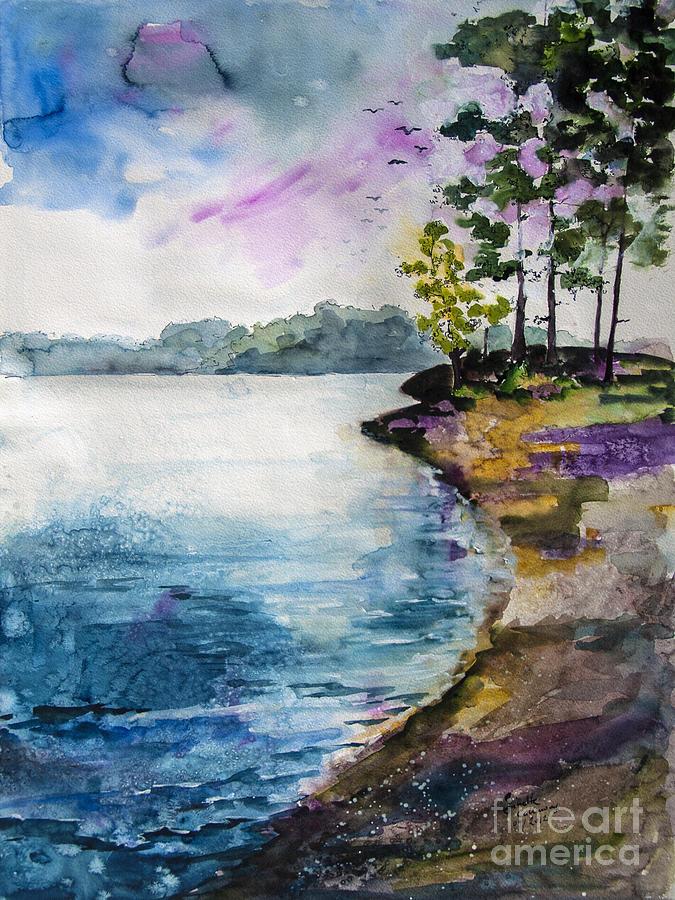 Georgia Painting - Shores Of Lake Lanier Georgia by Ginette Callaway