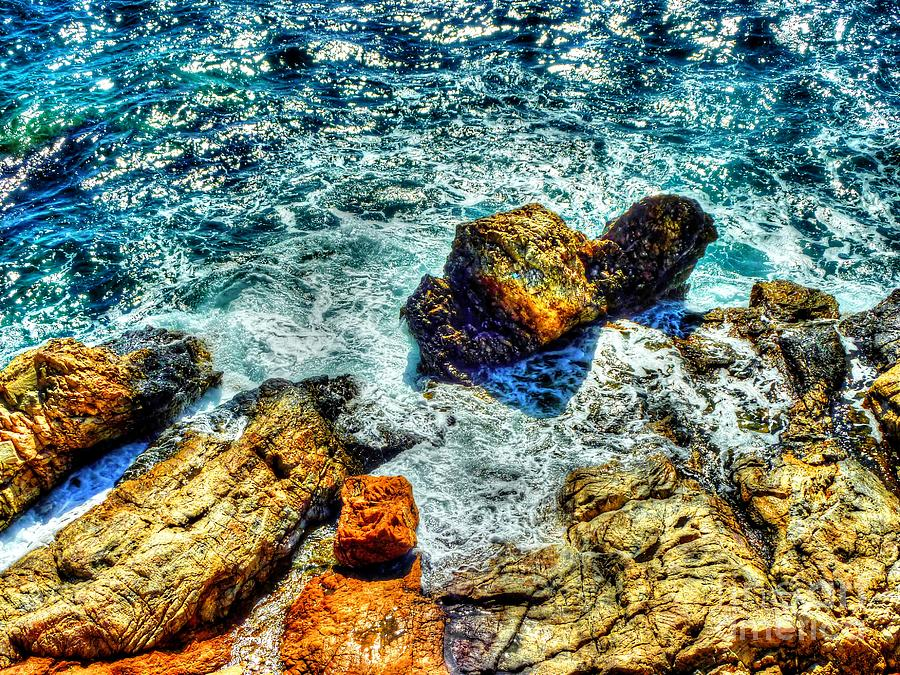 Rocks Photograph - Shores Of The Aegean by Michael Garyet