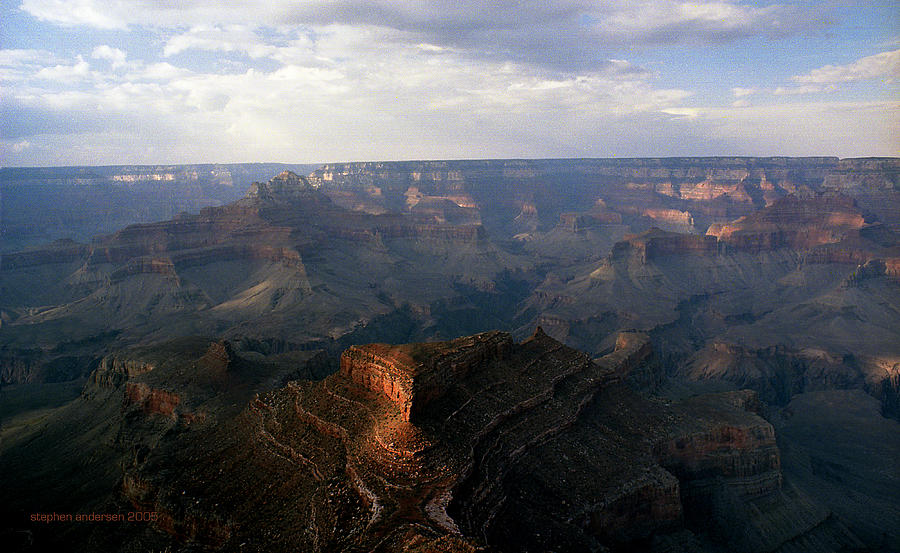Shoshone Point Photograph - Shoshone Point Grand Canyon Arizona by Stephen Andersen