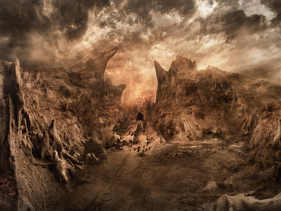Shouting Valley Digital Art by Akos Kozari