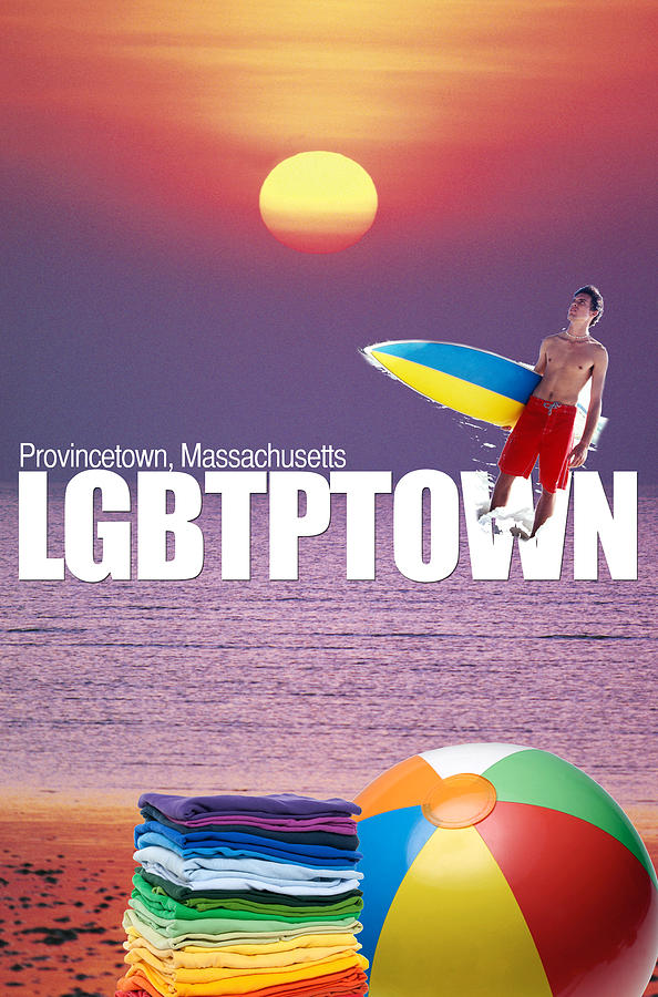 Gay Digital Art - Show Your Colors in PTown by Paul Carr