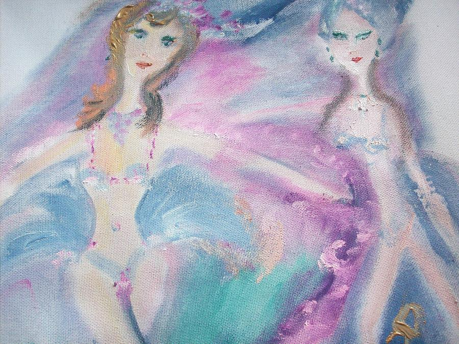 Showgirls Painting - Showgirls by Judith Desrosiers
