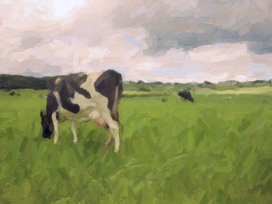 Cow Painting - Showing Her Butt by Nop Briex