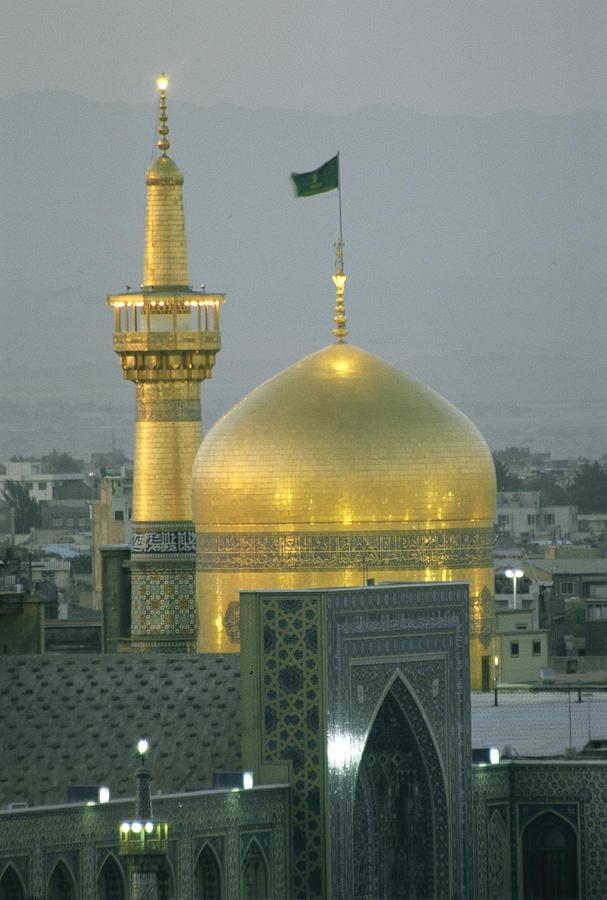 Asia Photograph - Shrine Of Imam Reza,  Eighth Shiite by Martin Gray