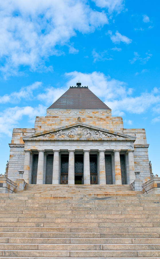 Anzac Photograph - Shrine Of Rememberence by Paul Donohoe
