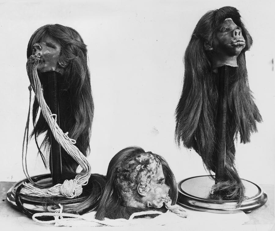 Horizontal Photograph - Shrunken Heads by Kirby