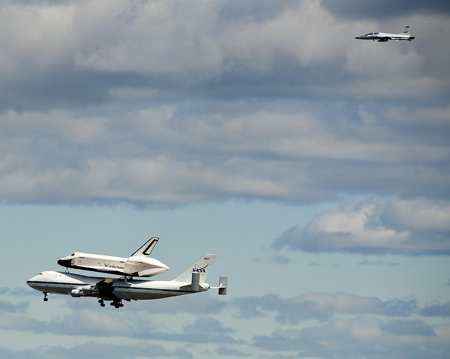 Shuttle Enterprise Photograph - Shuttle Enterprise And Escort by Roni Chastain