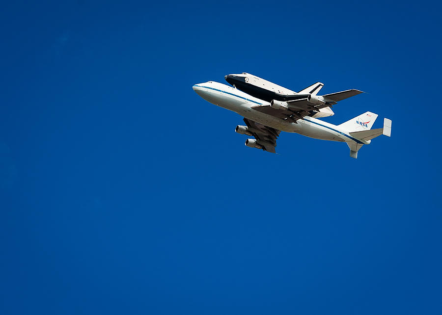 Space Shuttle Photograph - Shuttle Enterprise Through A Clear Sky by Anthony S Torres