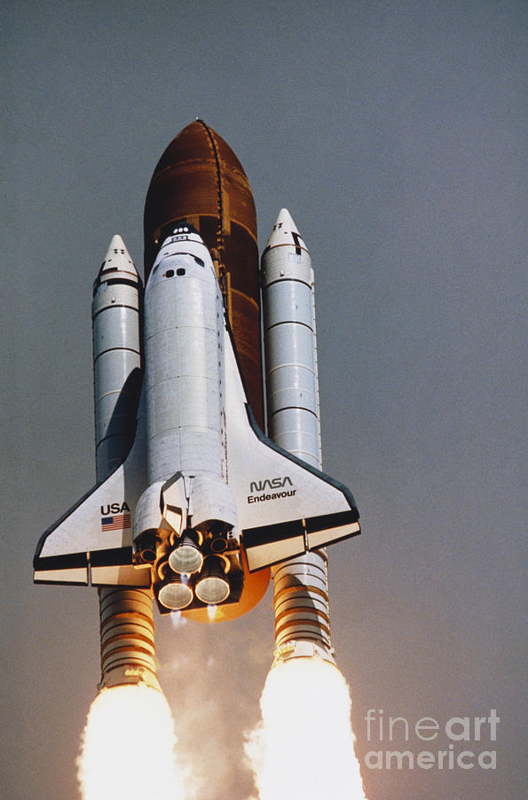 Space Travel Photograph - Shuttle Lift-off by Science Source