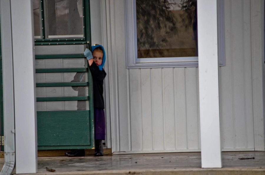 Amish Photograph - Shy Girl by Brenda Becker