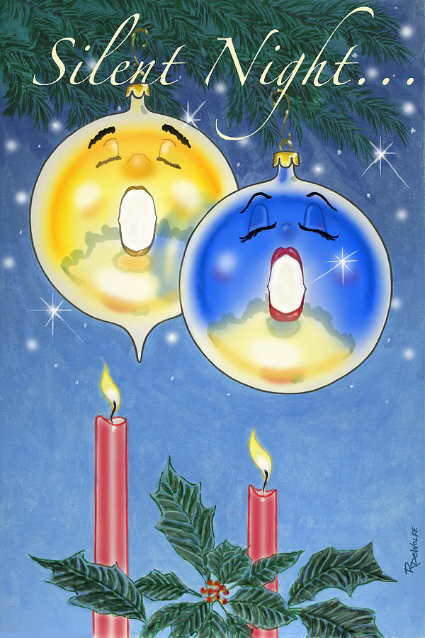 Christmas Digital Art - Si O Lent Night by Richard De Wolfe