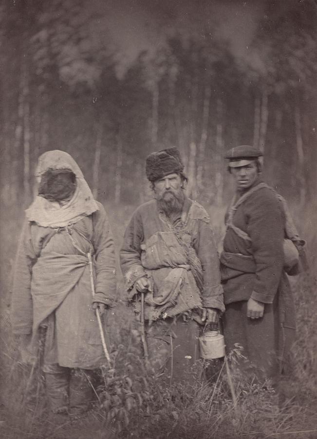 1880s Photograph - Siberia, Three Escaped Convicts by Everett