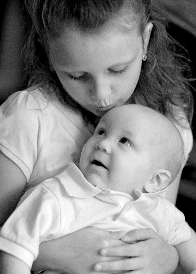 Portraits Photograph - Sibling Love by Lisa Phillips