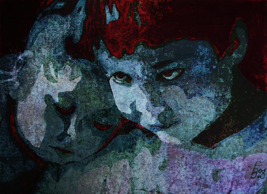 Care Painting - Siblings by Florin Birjoveanu