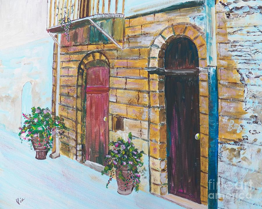 Sicilian Home Painting - Sicilian Home by Judy Via-Wolff
