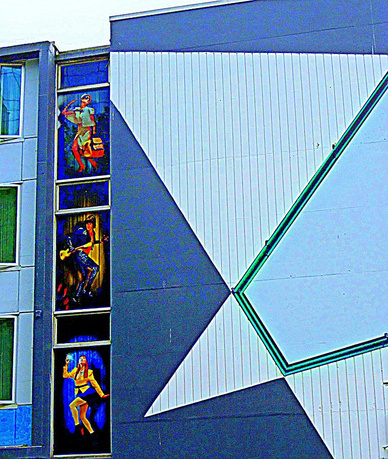 Vancouver Photograph - Side Of Building by Randall Weidner