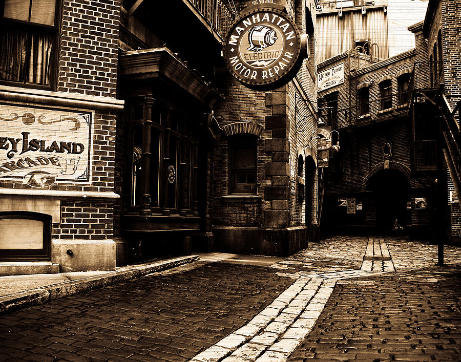 Sepia Photograph - Side Street by Jim McDonald Photography