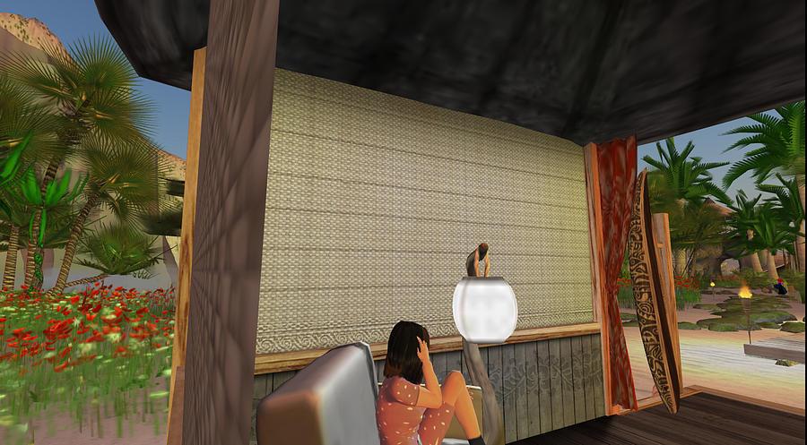 Digital Digital Art - Side View Beach Hut by Amy Bradley