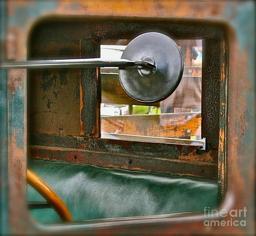 Old Truck Photograph - Side View Window by David  Hubbs