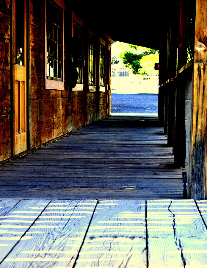 Western Photograph - Side Walk by Diane montana Jansson