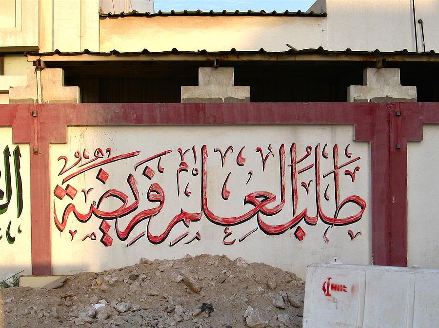 Sidewalk Photograph - Sidewalk Art In Doha IIi by David Ritsema