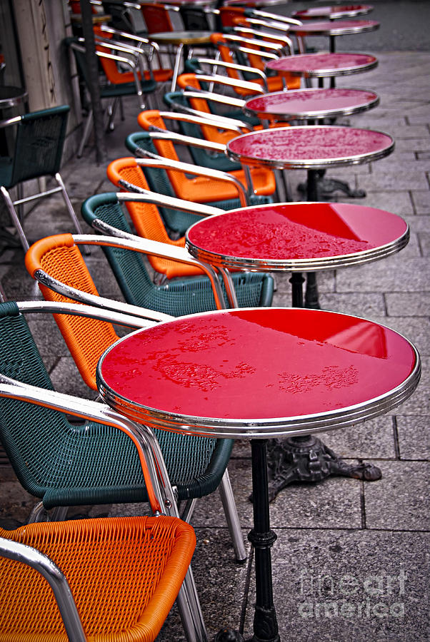 Cafe Photograph - Sidewalk Cafe In Paris by Elena Elisseeva