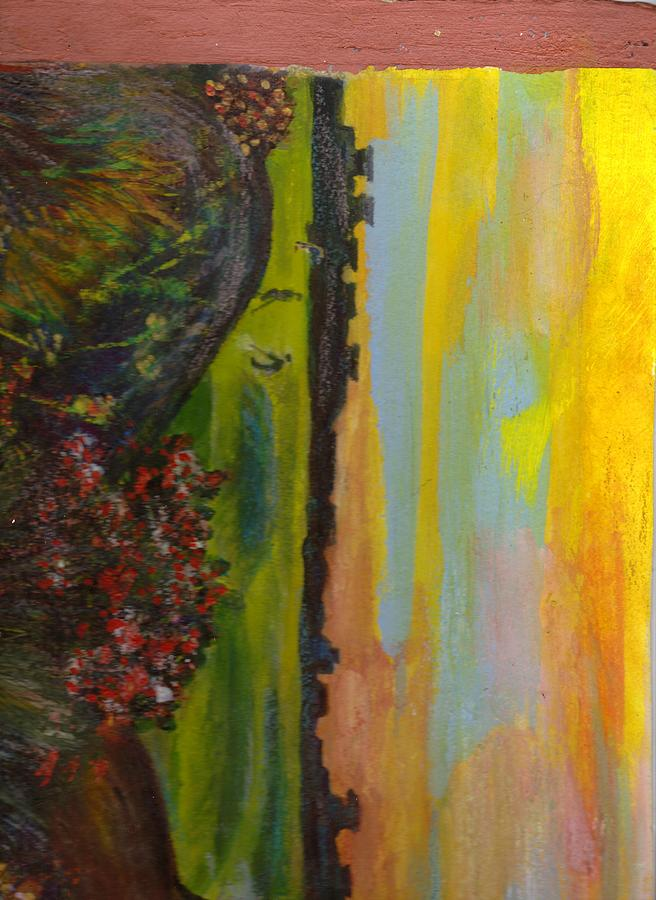 Golf Course Painting - Sideways by Anne-Elizabeth Whiteway