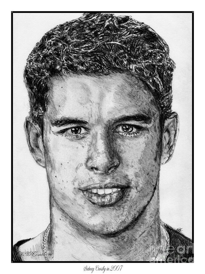 Sidney Crosby Drawing - Sidney Crosby In 2007 by J McCombie