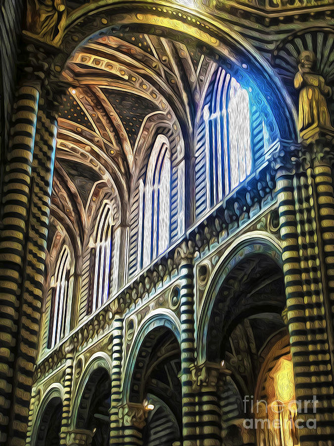 Siena Catheral Painting - Siena Italy - Siena Catheral by Gregory Dyer