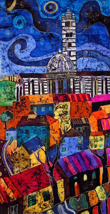 Silk Tapestry - Textile - Siena by Sandra Kern