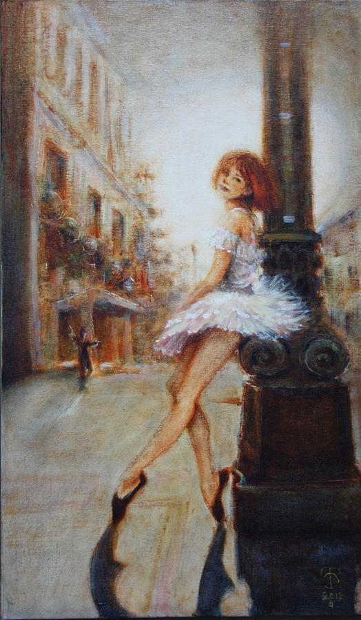 Ballet Painting - Sienna by Caroline Anne Du Toit