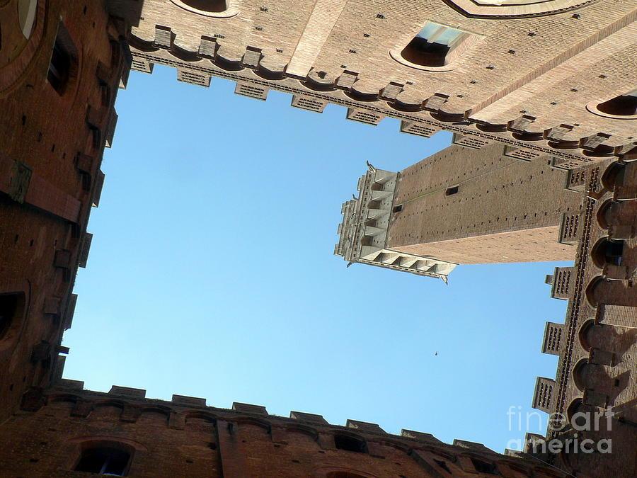 Sienna Photograph - Sienna Tower by Elizabeth Fontaine-Barr