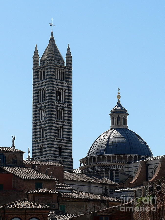 Duomo Photograph - Siennas Duomo by Elizabeth Fontaine-Barr