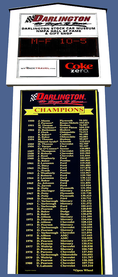 Nascar Photograph - Sign Of Champions by DigiArt Diaries by Vicky B Fuller