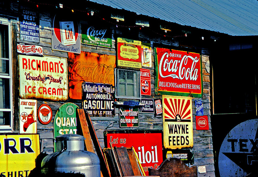 Antiques Photograph - Signs by Mike Flynn