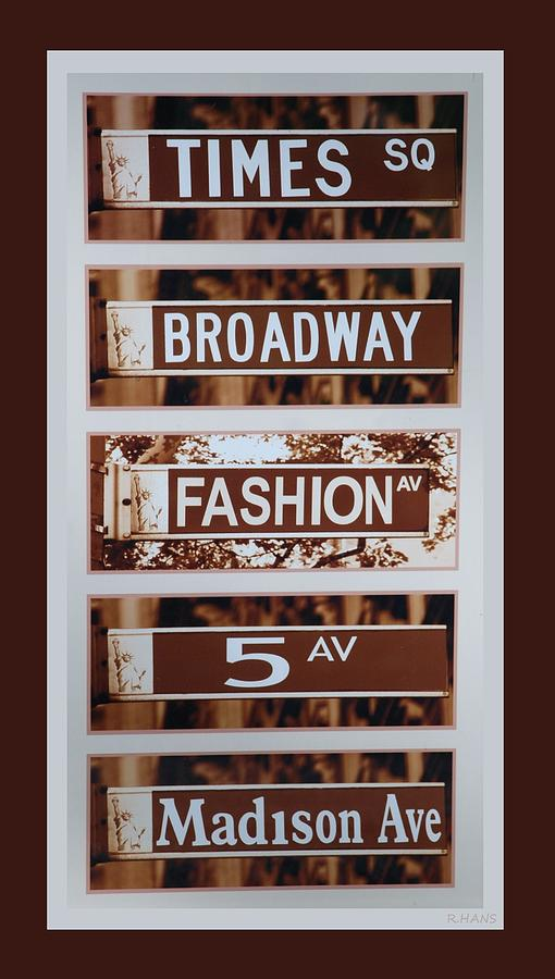 Brown Photograph - Signs Of New York by Rob Hans