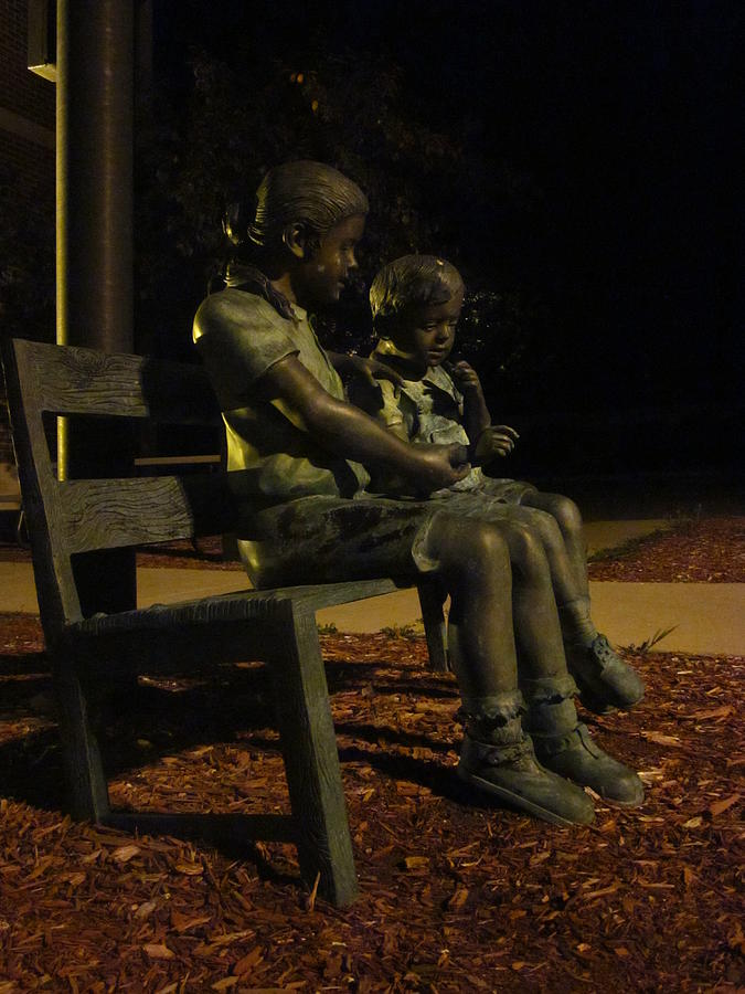 Statues Photograph - Silent Children by Guy Ricketts