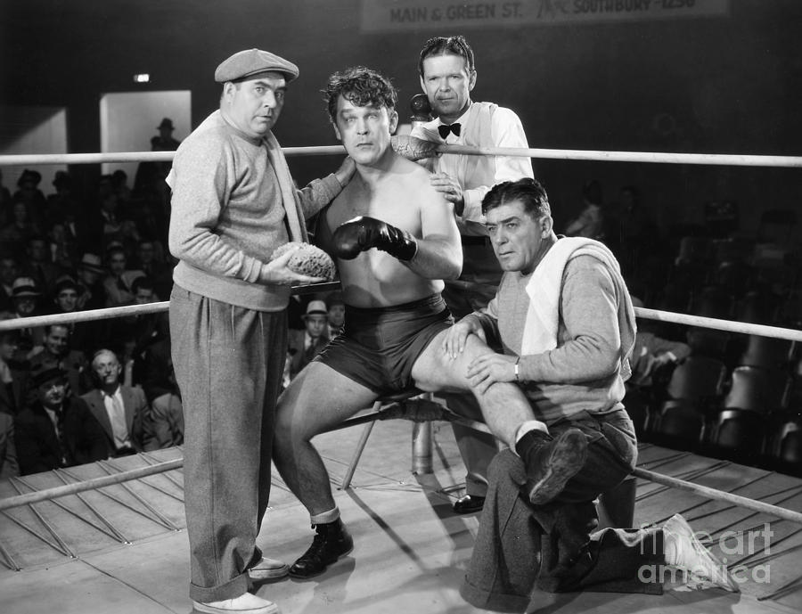 Sport Photograph - Silent Film Still: Boxing by Granger